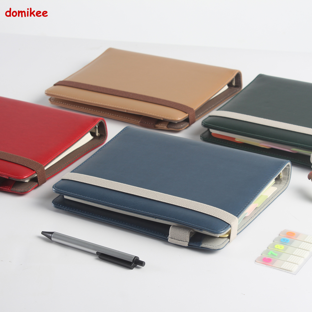 Domikee New Office School Leather Spiral Notebook