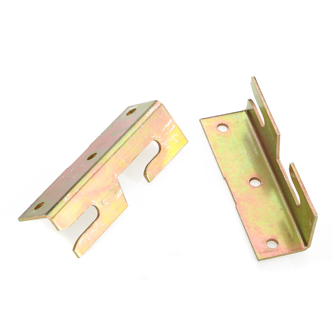 4 Set Brass Tone Bed Bracket Furniture Wood Bed Rail Bracket Fitting Snap Connectors Home Improvement Tool