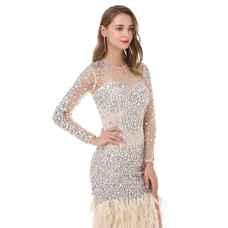 LORIE Kristaller ile Lüks Balo Elbise Akşam Elbise Mermaid Uzun - Özel Günler Için Elbise - Fotoğraf 5