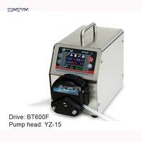 BT600F YZ15 лаборатории Высокой Большой Поток Точное Дозирование Умный Перистальтический Насос Вода Жидкость Промышленность Насос 0.006 ~ 1700 мл/ми
