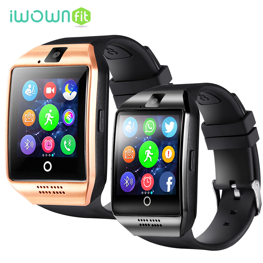 Q18 Smartwatch Touch Screen Bluetooth Smartwatch phone with Camera Support SIM TF Passometer Smart Watch for Android IOS