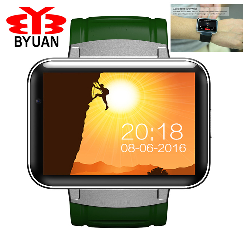 Bluetooth Smart Watch 2.2 inch Android OS 3G Smartwatch Phone MTK6572 Dual Core 1.2GHz 512MB RAM 4GB ROM Camera WCDMA GPS DM98 2 2 inch ips dm98 bluetooth smart watch android phone smartwatch relogios watch 3g wcdma 4gb android camera playstore gps wifi