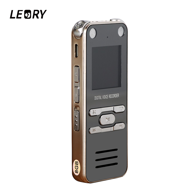 LEORY Portable Mini Digital Voice Recorder Sound Audio Dictaphone 8GB / 16GB / 32GB With Earphone Speaker USB MP3 Player