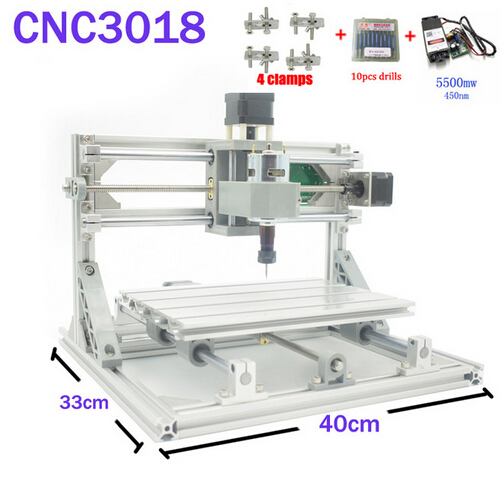 CNC 3018 ER11 GRBL Control Diy CNC Machine 3 Axis pcb Milling Machine Wood Router Laser Engraving with 450nm 5.5W Laser Module daniu 3018 3 axis grbl control 500mw laser diy cnc router milling engraving machine working area 30x18x40cm