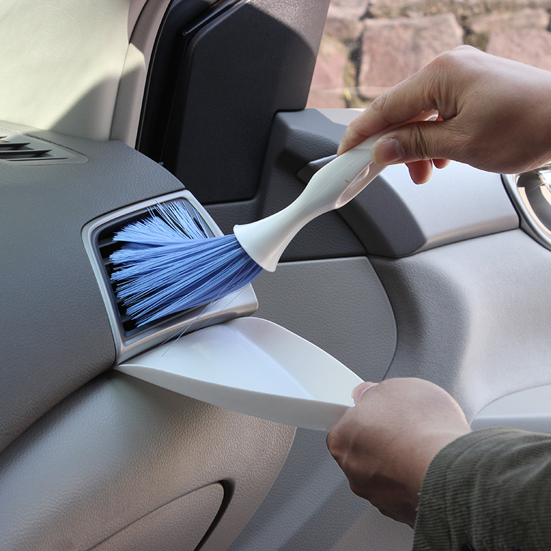Portable Car Air Conditioning Outlet Cleaning Brush Keyboard Home Office Multifunctional Dust Removal Sweeper with Trash Bucket -in Cleaning ...