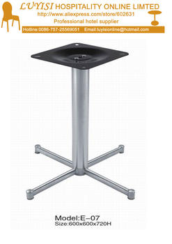 polished Stainless steel  table base