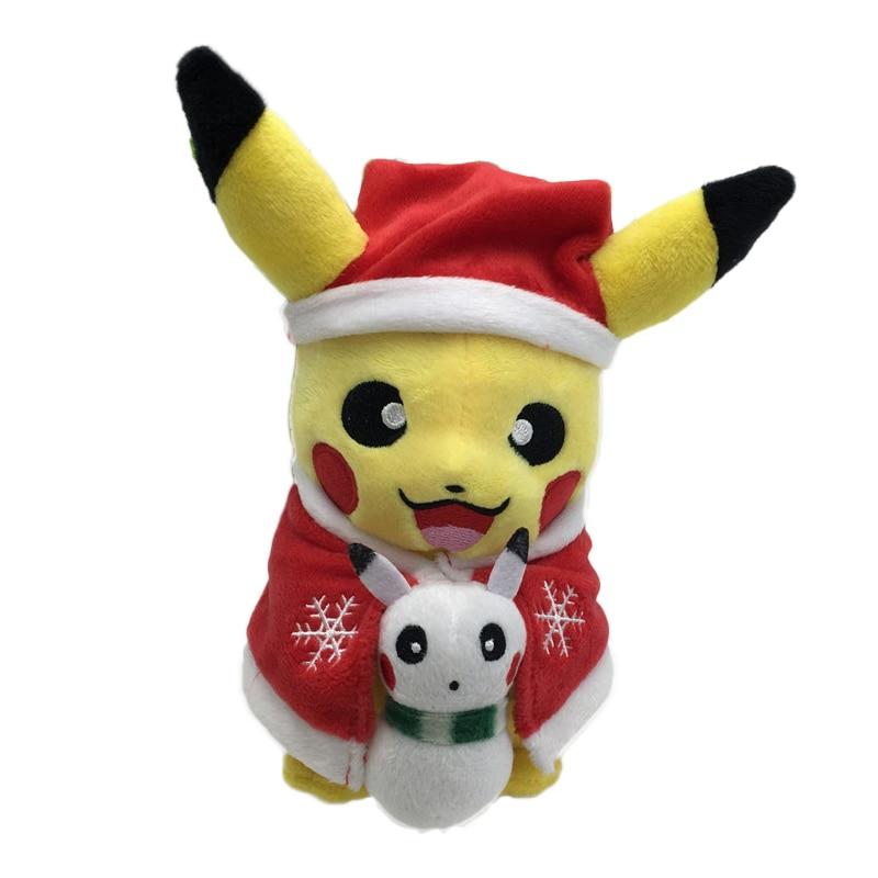 Ny stil Pikachu Pussel Leksaker Julklapp Julklapp för barn 20cm Kawaii Leksaker Pikachu Fyllda Plysch Doll Baby Barn Leksak