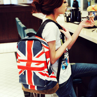 2013 fashion Olympic Games American US UK Flag Star-Spangled Banner Backpack School Bag Student