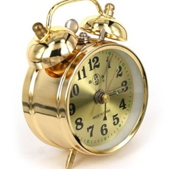 New Old Fashioned Clockwork Alarm Clock Vintage Wound Up Manual Mechanical Metal Movement