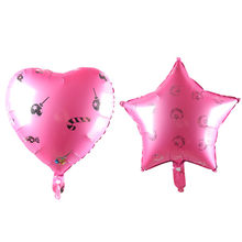 18inch pink Candy moon love balloon Pentagram balloon Party birthday balloon children's toys wedding(China)