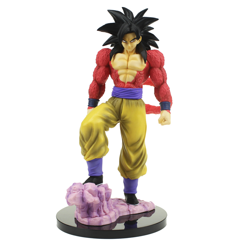 Free Shipping 11 Dragon Ball Z Anime Super Saiyan 4 Son Gokou Goku Boxed 28cm PVC Action Figure Collection Model Doll Toys Gift 26 5cm new hot pvc action figure zerodragon ball super saiyan 4 son goku model doll decoration collection figurine toys for gift