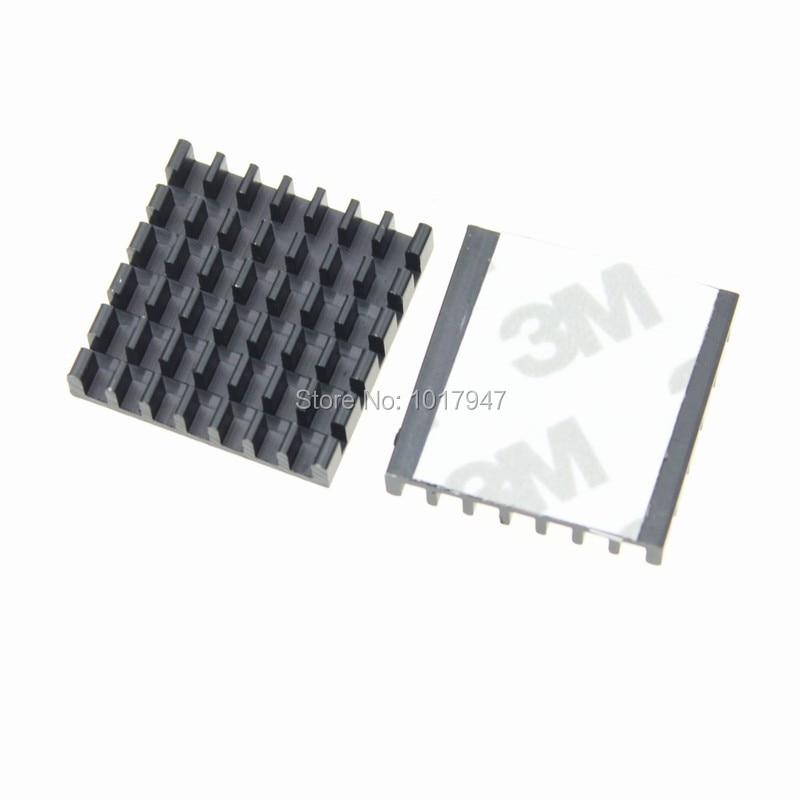 √20 unidades LOT 25x25x5mm aluminio negro disipador de calor para ...