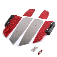 MF13 Anti Slip Footrest Pedal Aluminum Alloy Front Rear Footboard Steps Foot Plate for Honda Forza 125/250/300 2016 2019 NSS300