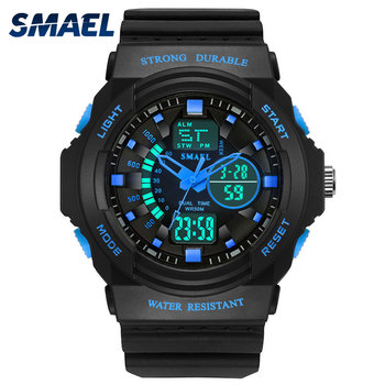 New 2020 Men's Wach Men Sports Watches Fashion Cool Men Dual Display Digital Analog Quartz Wristwatches Silicone reloj de hombre image