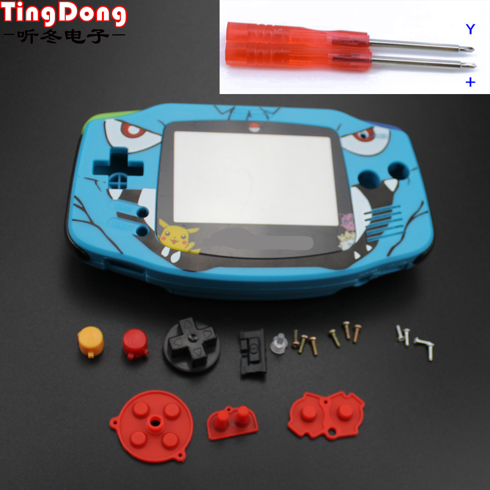 Ting Dong Cartoon Limited Edition Full Housing Shell replacement for Nintendo Gameboy Advance for GBA Game Console Cover Case man ting