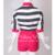 FRETE GRÁTIS Le Palais Vindima 2016 Nova Edição Limitada Manga Batwing Tarja Rosa Costura Curto Macacão Mulheres Macacões Finos