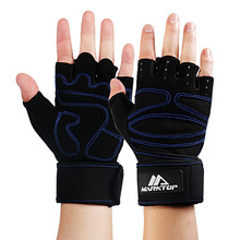 Sports Entertainment - Fitness  - Marktop Weight Lifting Glove Breathable Half Finger Sport Gym Gloves Fitness Exercise Training Anti Slip With Waist Support 5052