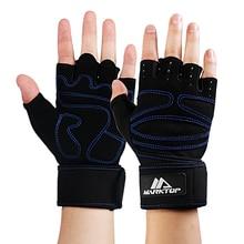 Marktop Hmotnost Zvedací Rukavice Prodyšná Poloviční Finger Sportovní Gym Rukavice Fitness Cvičení Trénink Anti Slip s Podešví Podpora 5052