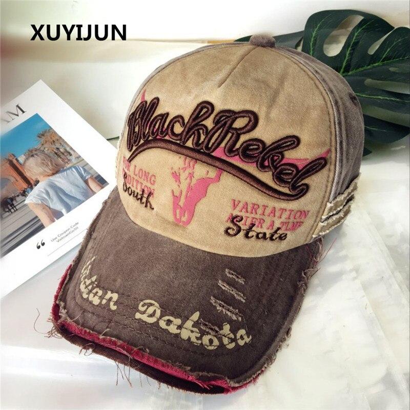 Xuyijun marca Gorras de béisbol de los hombres papá de Casquette casquillos  del Snapback sombreros para los hombres sombrero de la vendimia Gorras  carta ... 03f384f358a