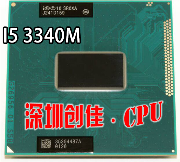 Original Intel Core Dual-Core Mobile cpu processor i5-3340M I5 3340M 2.7GHz L3 3M Socket G2 / rPGA988B SR0XA Laptop intel p6200 slbua 2 13 2m pga bloomfield dual core cpu black mirror silver