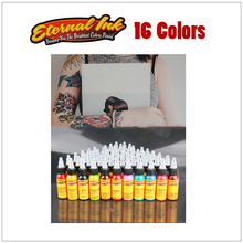 1 color tattoo ink set ounce 30 ml / bottle permanent paint 16 pattern body painting