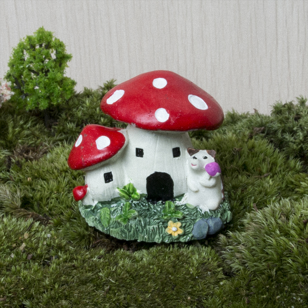 Mini Resin Mushroom House Garden Decoration Accessories Fairy Garden ...