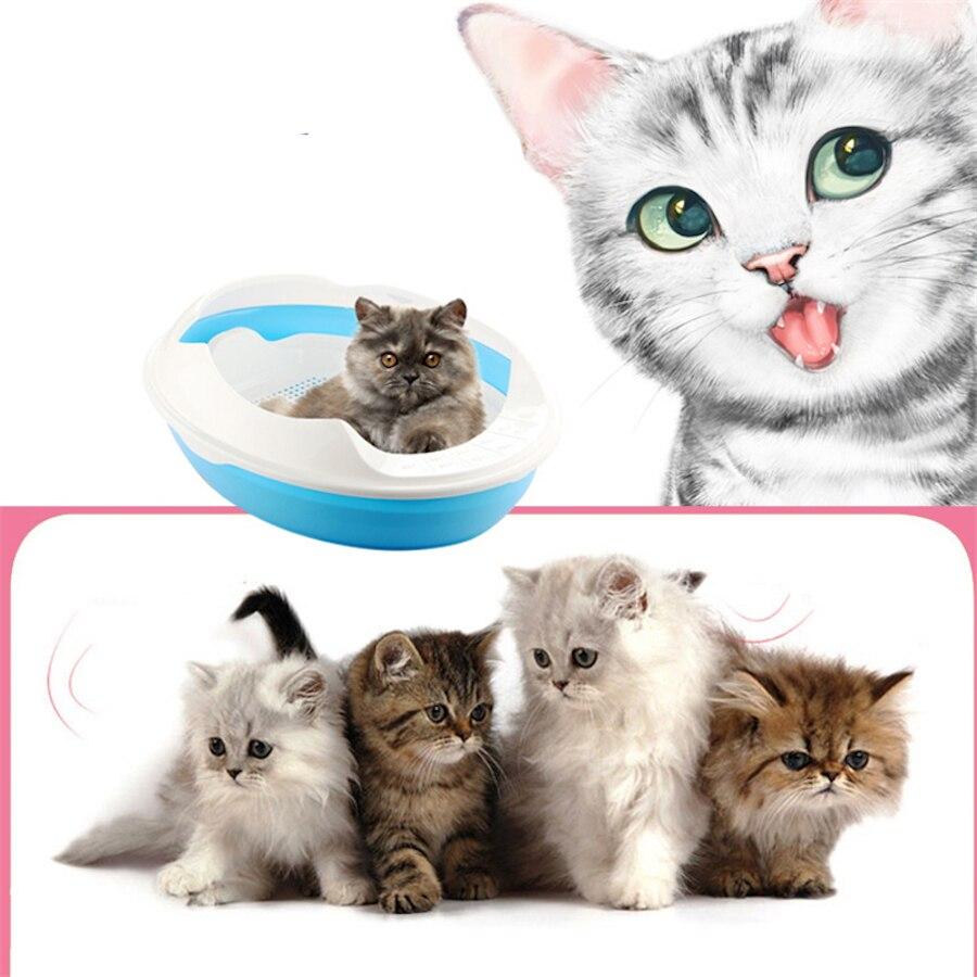 Пластик Помет Лоток горшок Scoop Scooper Cat Туалет для Кошкин дом туалете хомяк Ванная комната кошка Nip Туалет ddm2443