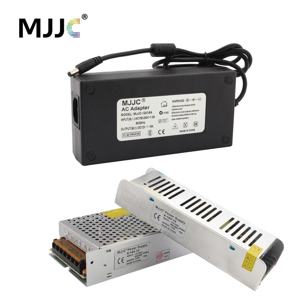 12 Volt Power Supply Unit 12V 15A Power Adapter 110V 220V to DC 12V LED Transformer 180W 12V LED Driver for LED Strip Light