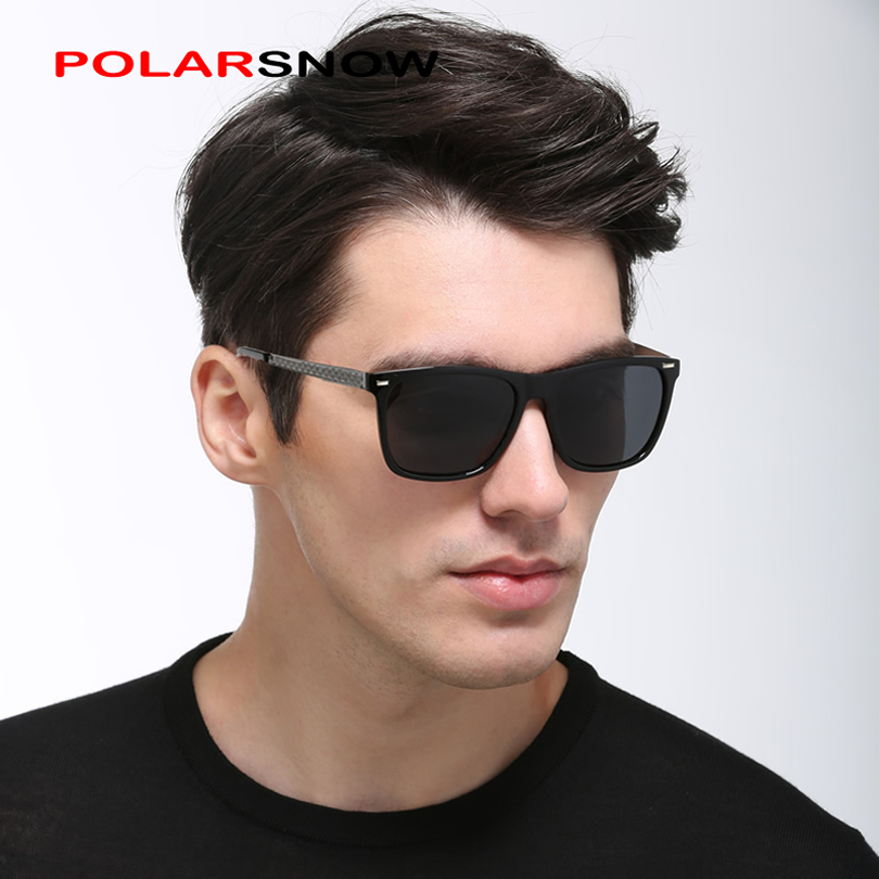POLARSNOW Fashion Polarized Sunglasses Men Designer jenama Unisex Sun Glasses Goggles Memandu Eyewear Classic Retro Oculos