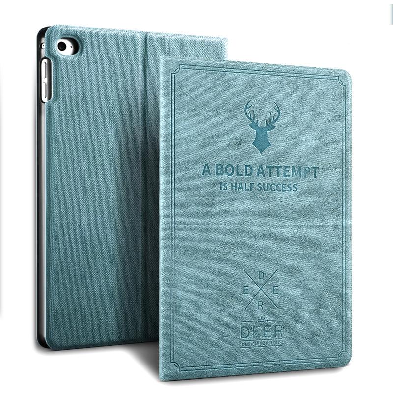 Apple iPad Mini 4 Vintage Lüks PU Üçün Ultra İncə Tablet Qutusu - Planşet aksesuarları - Fotoqrafiya 6