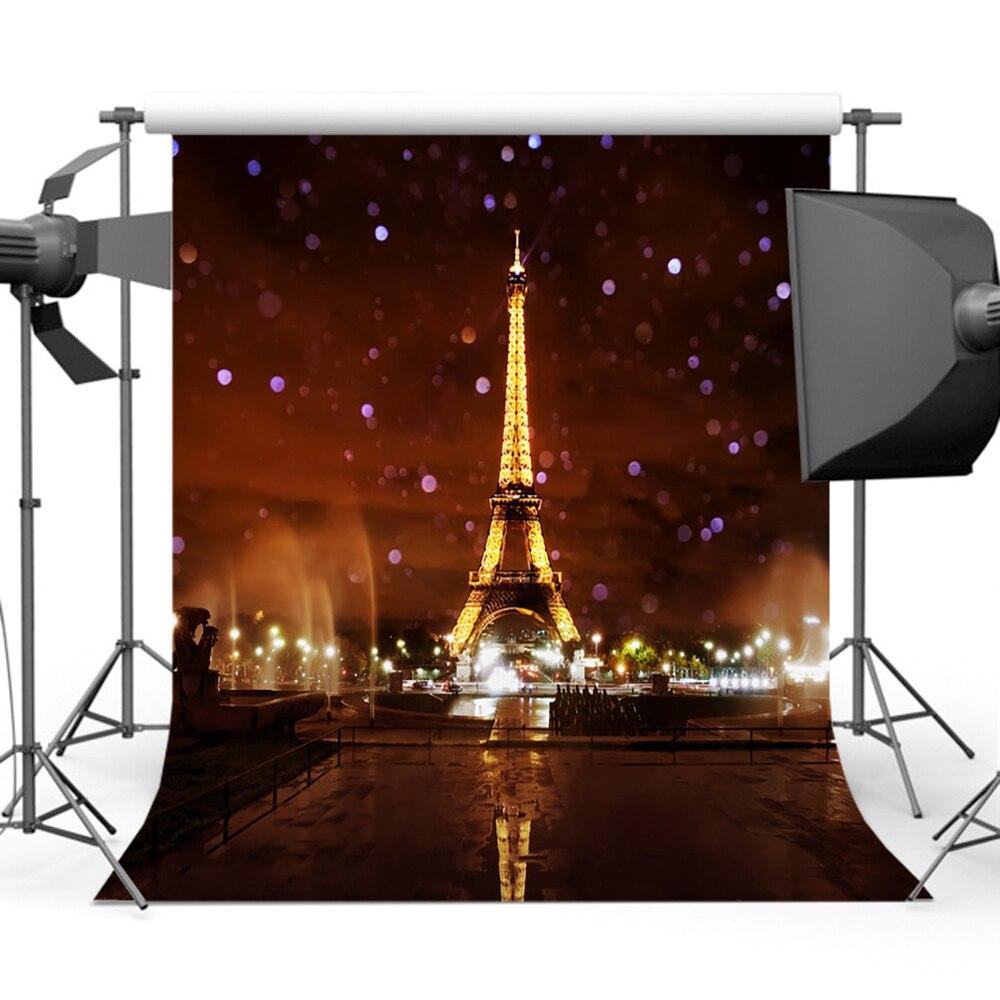 Mehofoto Glitter Bokeh Eiffel Tower telones de fondo para fotografia - Cámara y foto