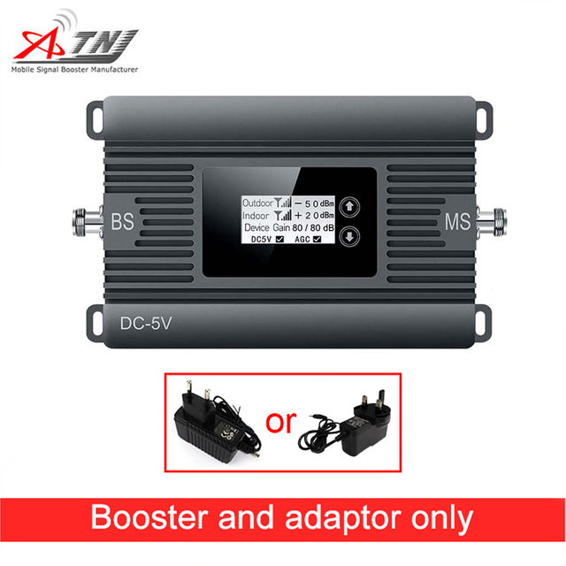 2G High Gain Mobile Signal Booster GSM 900mhz Phone Repeater 80dBi Only Amplifier And Adapter