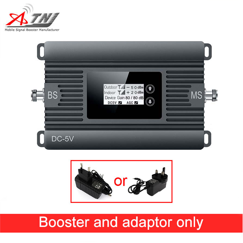 Amplificateur de signal mobile à gain élevé 2G répéteur de signal de téléphone GSM 900 mhz 80dBi gain seulement amplificateur et adaptateur