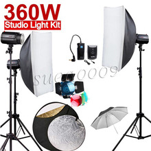 Más nueva 360ws godox 120di 3*120 ws pro photography studio strobe luz de flash 360 w kit
