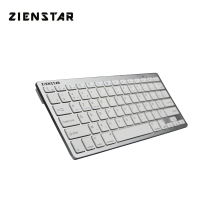 Zienstar AZERTY French Language Slim Bluetooth Wireless Keyboard for ipad Iphone Macbook PC computer Android Tablet