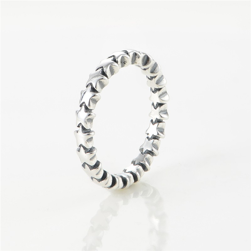 100% 925 sterling silver jewelry rings comic stars of the European brands for woman diy making ring wholesale