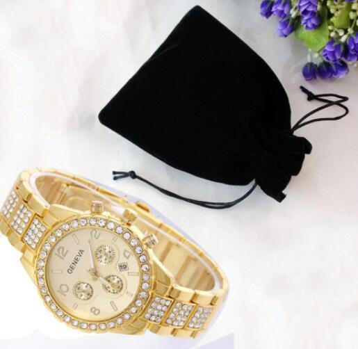 Mens Iced Out Hip Hop Gold...