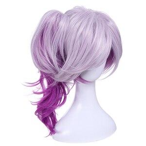 Image 3 - L email wig LOL Lux Cosplay Wigs the Lady of Luminosity Peluca de Cosplay ondulada púrpura mixta coleta pelo sintético resistente al calor