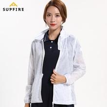 Women Sports Fitness Jackets Supfire Running Cycling Sunscreen Wind Coat Windproof Ultraviolt-proof Long Sleeve Jerseys C020