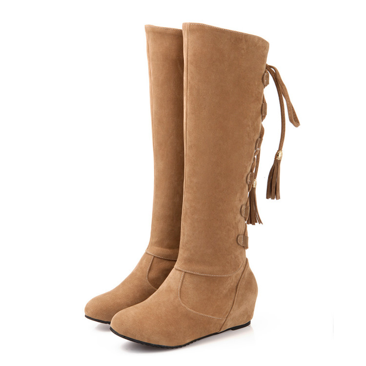 Big Size 34-43 Knee Boots for Women Sexy Long boots Winter Autumn Shoes Round Toe Platform Knight Boots 66-28