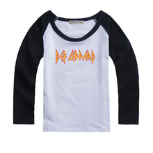Def Leppard Hard rock band Design Printed Kids T-Shirt Girls Boys Gift cotton long sleeves Autumn clothes For family party