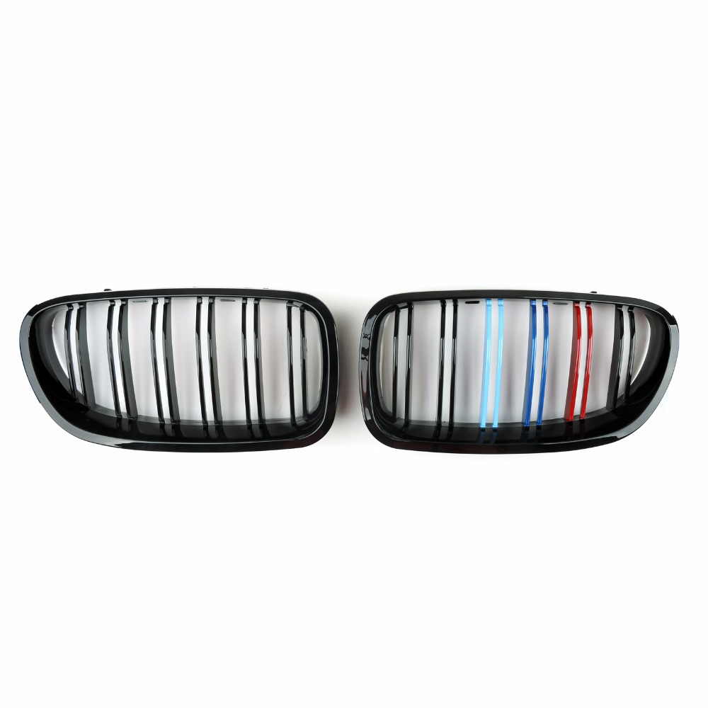 Areyourshop Car For BMW Front Kidney Grille Double Rib For BMW F10 F18 5-Series 2010-2015 High Quality Car Styling Part