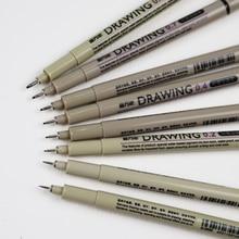 Nadelspitze Grafik Stift Nadel stift Pigment Skizze Manga Zeichnung Malerei Feinen Hub haken linie hand Unentschieden Grafik stift Kunst marker