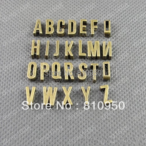 30set 780pcs bag 11x5x4MM hole 7x2MM Metal Alloy Antique Bronze letter with hole bead Charms Pendant