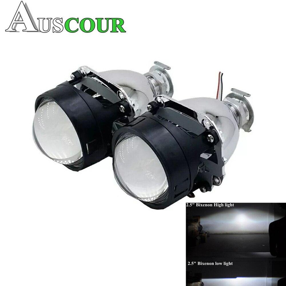 2.5 polegada bixenon hid lente Do Projetor do carro apto para H1 H4 H7 Farol lâmpada do farol do carro lâmpada kit de montagem de automóveis frete grátis Modificar