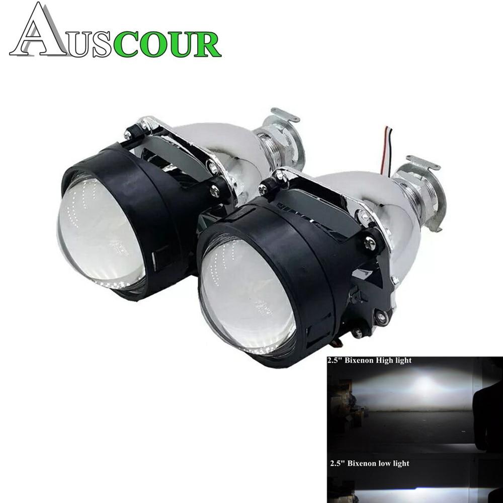 2,5 pulgadas bixenon hid lente del proyector del coche ajuste para H1 H4 H7 coche faro bombilla coche kit de montaje envío Gratis modificar