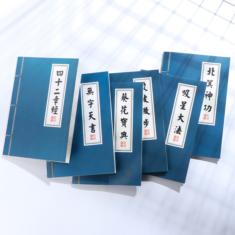 1Pcs New Chinese KungFu Secret Novelty Notebook Book Office Stationery Diary Planner Notepad for School Student Gift E0427