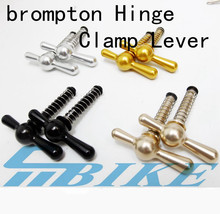 цены 5 Colors Bicycle seatpost Hinge Clamps and Hinge Levers(limit nut) For Brompton BMX Bike Frame Quick Release C Buckle