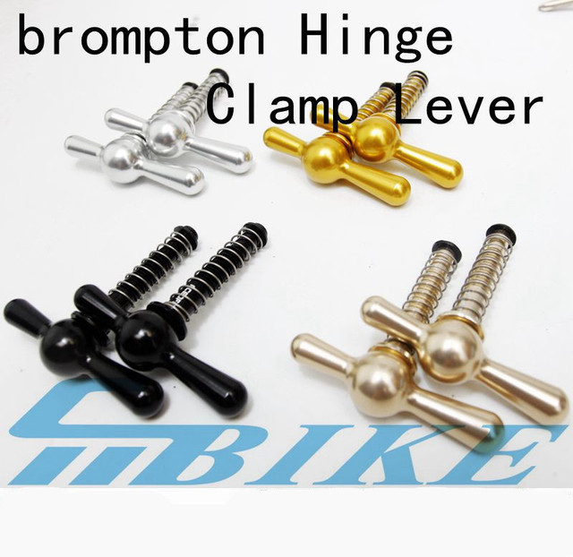 5 Colors Bicycle seatpost Hinge Clamps and Hinge Levers(limit nut) For Brompton BMX Bike Frame Quick Release C Buckle
