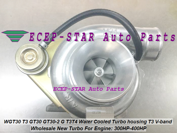 WGT30 T3 GT30 GT30-2 G T3T4 Turbo Turbocharger Turbine housing T3 V-band Water Cooled 300HP-400HP (1)